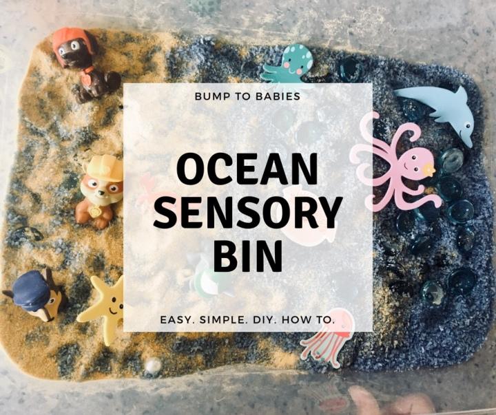 DIY OCEAN SENSORYBIN